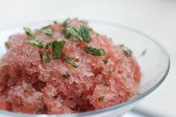 Watermelon-Mint Granita