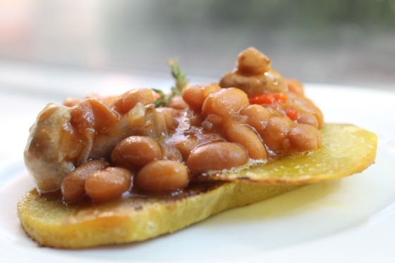 Jamaican-ized Beans on Toast